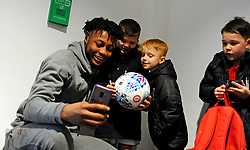 Antoine Semenyo of Bristol City poses for a photo with fans -Mandatory by-line: Nizaam Jones/JMP - 18/01/2020 - FOOTBALL - Ashton Gate - Bristol, England - Bristol City v Barnsley - Sky Bet Championship