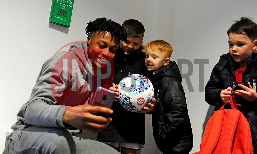 Antoine Semenyo of Bristol City poses for a photo with fans -Mandatory by-line: Nizaam Jones/JMP - 18/01/2020 - FOOTBALL - Ashton Gate - Bristol, England - Bristol City v Barnsley - Sky Bet Championship