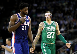 Boston Celtics' Daniel Theis (right) during the NBA London Game 2018 at the O2 Arena, London.
