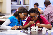 St. Louis-area students work inside Busch Lab as a part of the Institute for School Partnership at Washington University in St. Louis.