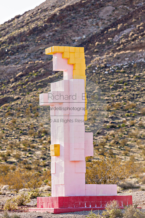 Public sculpture called Lady Desert: The Venus of Nevada at the open air museum in Goldwell, NV.