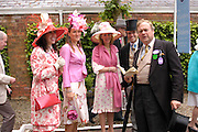 Mrs. William Ramsay, Sophia Harding-Newman ,Georgina Pope William Ramsay and Lord Biddulph. Royal Ascot Race meeting Ascot at York. Tuesday 14 June 2005. ONE TIME USE ONLY - DO NOT ARCHIVE  © Copyright Photograph by Dafydd Jones 66 Stockwell Park Rd. London SW9 0DA Tel 020 7733 0108 www.dafjones.com