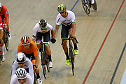 Men Madison, Theo Reinhardt and Roger Kluge (Germany) during the Track Cycling European Championships Glasgow 2018, at Sir Chris Hoy Velodrome, in Glasgow, Great Britain, Day 5, on August 6, 2018 - Photo luca Bettini / BettiniPhoto / ProSportsImages / DPPI<br /> - Restriction / Netherlands out, Belgium out, Spain out, Italy out -