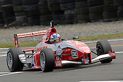 The Toyota Racing Series car of Auckland's Nick Cassidy in qualifying for the NZ Grand Prix at the Fujitsu 200 at Manfeild Autocourse on 11 February 2012. The Fujitsu 200 is part of the New Zealand Premier Race Championship Series.