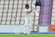 Gareth Berg of Hampshire batting during the Specsavers County Champ Div 1 match between Hampshire County Cricket Club and Worcestershire County Cricket Club at the Ageas Bowl, Southampton, United Kingdom on 13 April 2018. Picture by Graham Hunt.