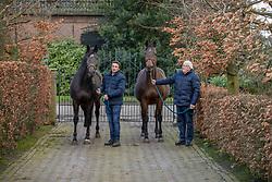 Van Gestel René, Kazella, Van Gestel Jan, Cella<br /> Fokkerij familie Van gestel - Hilvarenbeek 2020<br /> © Hippo Foto - Dirk Caremans<br /> 25/02/2020