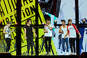 One Direction in concert at Vector Arena, Auckland, New Zealand, Saturday, October 12, 2013. Photo: David Rowland/Photosport