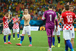 19.06.2014, Arena da Amazonia, Manaus, BRA, FIFA WM, Kamerun vs Kroatien, Gruppe A, im Bild Ivan Perisic celebrates a win against Cameroon // during Group A match between Cameroon and Croatia of the FIFA Worldcup Brasil 2014 at the Arena da Amazonia in Manaus, Brazil on 2014/06/19. EXPA Pictures © 2014, PhotoCredit: EXPA/ Pixsell/ Sanjin Strukic<br /> <br /> *****ATTENTION - for AUT, SLO, SUI, SWE, ITA, FRA only*****