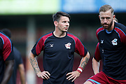 Adam Hammill Of Scunthorpe United before the Pre-Season Friendly match between Scunthorpe United and Leicester City at Glanford Park, Scunthorpe, England on 16 July 2019.