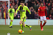 Huddersfield Town midfielder Joe Lolley on the attack during the Sky Bet Championship match between Nottingham Forest and Huddersfield Town at the City Ground, Nottingham, England on 13 February 2016. Photo by Aaron  Lupton.