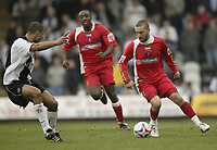 Photo: Aidan Ellis.<br /> Grimsby Town v Swindon Town. Coca Cola League 2. 17/03/2007.<br /> Swindon's Christian Roberts looks to take on Grimsby's Justin Whittle