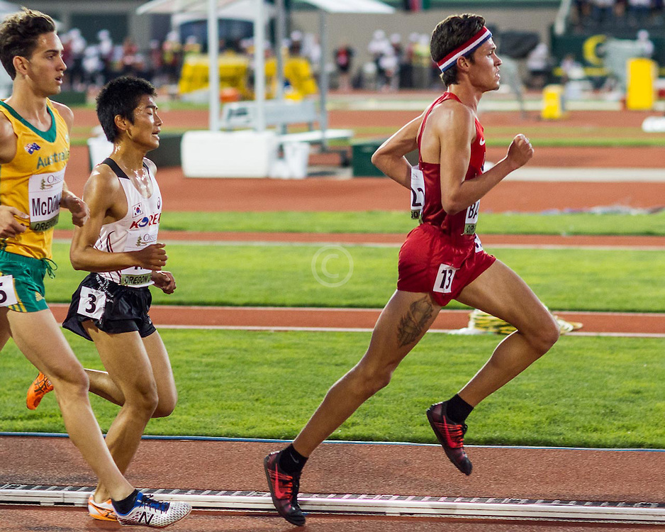 mens 5000 meters, Brian Barraza, USA