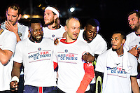 Joie PSG - Jeffrey M'TIMA / Thierry OMEYER / Luc ABALO - 04.06.2015 - Tremblay en France / Paris Saint Germain - 26eme journee de Division 1 -Beauvais<br />