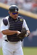 Apr 11, 2006; Detroit, MI, USA:  Detroit Tiger catcher Ivan Rodriguez, Comerica Park vs. Chicago White Sox.