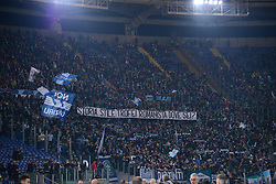 March 2, 2019 - Rome, Lazio, Italy - SS Lazio supporters during the Italian Serie A football match between S.S. Lazio and A.S Roma at the Olympic Stadium in Rome, on march 02, 2019. (Credit Image: © Silvia Lore/NurPhoto via ZUMA Press)