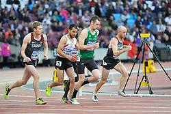 22/07/2017 : Michael McKillop (IRL), Liam Stanley (CAN), Madjid Djemai (ALG), Shayne Dobson (CAN), T37, Men's 1500m, Final, at the 2017 World Para Athletics Championships, Olympic Stadium, London, United Kingdom