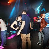 Nederland, Amsterdam , 14 december 2012..Avond clubbing tot 01.00u s'nachts in de kerk van Hotel Arena..Evening clubbing in a club in the center of Amsterdam.