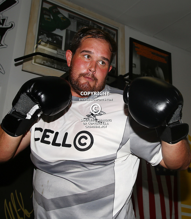 DURBAN, SOUTH AFRICA - JANUARY 16: John-Hubert Meyer during the Cell C Sharks boxing session at Domination on January 16, 2017 in Durban, South Africa. (Photo by Steve Haag/Gallo Images)