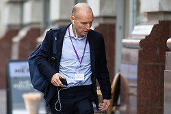 © Licensed to London News Pictures. 16/09/2020. Manchester, UK. Cancer specialist Justin Stebbing arrives at the Medical Practitioners Tribunal Service in Manchester today [16/09/2020]. He has been accused of failing to provide good clinical care and providing aggressive treatment even when patients are near to death. Photo credit: Kerry Elsworth/LNP