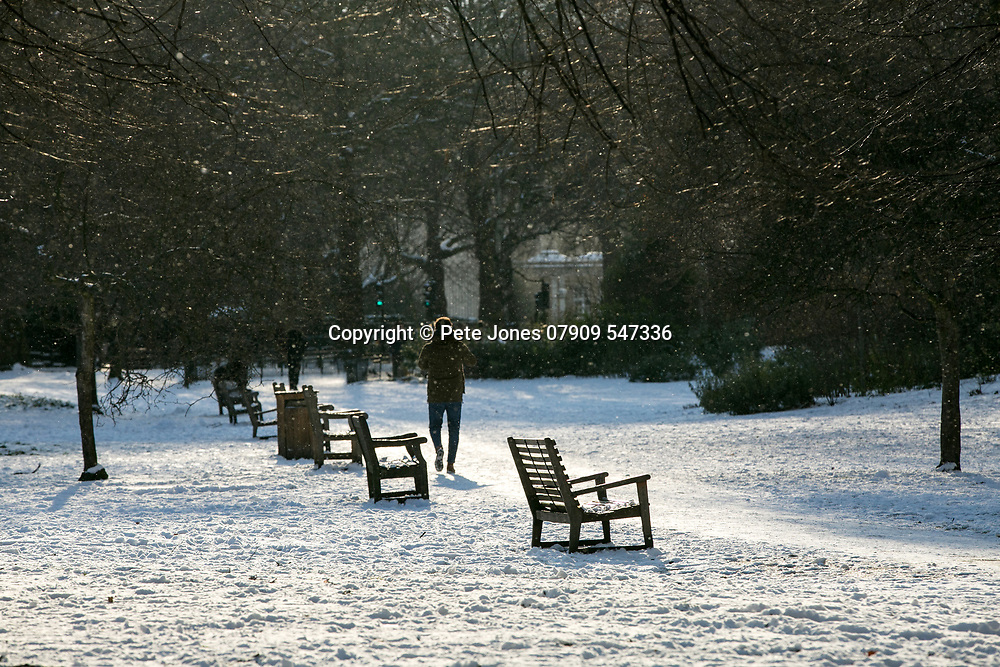 Snow images;<br /> London Views;<br /> One Birdcage Walk, SW1E 6HQ;<br /> 28th February 2018.<br /> <br /> &copy; Pete Jones<br /> pete@pjproductions.co.uk