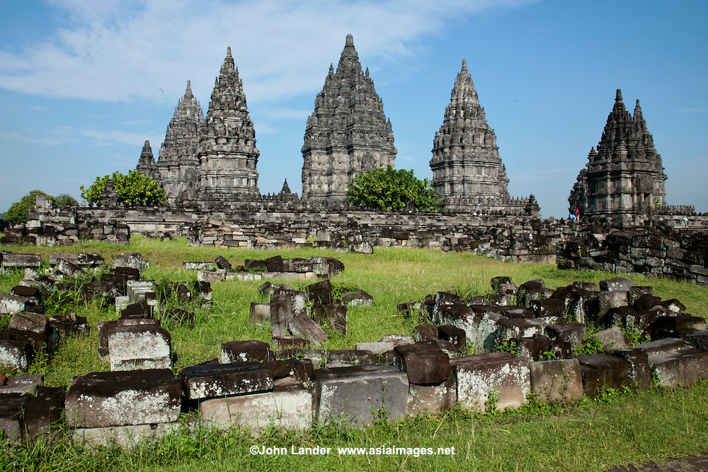 Prambanan is the largest Hindu temple complex in Indonesia, east of Yogyakarta  characterised by its tall,  pointed architecture,  and by its large central building surrounded by smaller   complex of individual temples. The temple is a UNESCO World Heritage Site