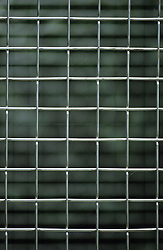 Detail of metal grille screen