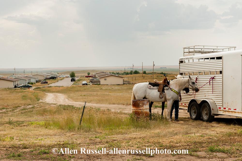 Rocky Boy Rodeo-Indian cowboy-horses-Rocky Boy Reservation-Montana