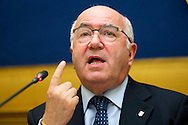 Rome oct 6th 2015, Democratic Party presents a law on sports' education and culture. In the picture Carlo Tavecchio