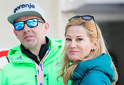 Enzo Smrekar, president of SZS, General Manager at Atlantic Grupa and his wife Laura Smrekar, marketing director of Competo d.o.o. during the Ski Flying Hill Individual Competition at Day 2 of FIS Ski Jumping World Cup Final 2016, on March 18, 2016 in Planica, Slovenia. Photo by Vid Ponikvar / Sportida