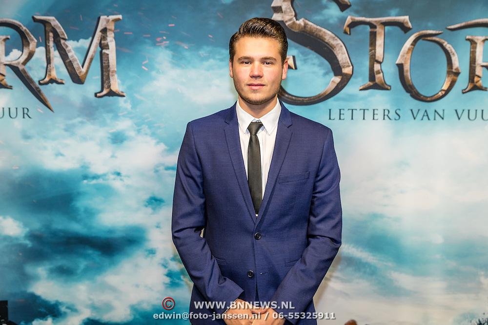 NLD/Amsterdam/20170116 - premiere Storm - Letters van Vuur, Dave Dekker