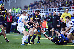 RUGBY - CHAMPIONS CUP - 2017<br /> lapandry (alexandre)<br /> spedding (scott)<br /> Clermont / Exeter le 21/01/2017<br /> Photo : Pierre Lahalle
