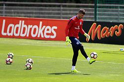 England goalkeeper Fraser Forster during the training session at Stade Omnisport.