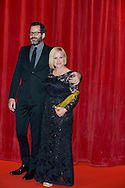 Patricia Arquette and husband with Crystal Nymphe price on the red carpet for the inauguration of the Monte-Carlo Film Festival of Television. Monte-Carlo, 13 june 2015, Monaco