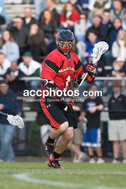 01 March 2008: Maryland Terrapins men's lacrosse attackman Grant Catalino (1) in a 15-7 loss to the Duke Blue Devils at Koskinen Stadium in Durham, NC