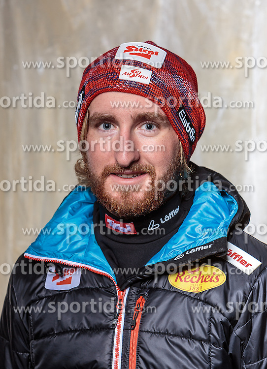 08.10.2016, Olympia Eisstadion, Innsbruck, AUT, OeSV Einkleidung Winterkollektion, Portraits 2016, im Bild Elias Tritscher, Nordische Kombination // during the Outfitting of the Ski Austria Winter Collection and official Portrait Photoshooting at the Olympia Eisstadion in Innsbruck, Austria on 2016/10/08. EXPA Pictures © 2016, PhotoCredit: EXPA/ JFK