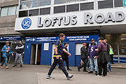 Burton Albion manager Nigel Clough walks into Loftus Road Stadium down South Africa Road before the EFL Sky Bet Championship match between Queens Park Rangers and Burton Albion at the Loftus Road Stadium, London, England on 23 September 2017. Photo by Richard Holmes.