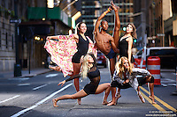Dance As Art Photography Project Midtown Manhattan Series with dancers Mykaila Symes, Maren Clemsen, Daniel White, Rose Seidman and Rachel Fine.