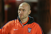 York City midfielder Russell Penn during the Johnstone's Paint Trophy match between Barnsley and York City at Oakwell, Barnsley, England on 10 November 2015. Photo by Simon Davies.