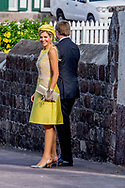 THE BOTTOM - King Willem-Alexander and Queen Maxima celebrate Saba Day in the Christ Church. The Ecumenical Church service is preceded by Priest John Rohim. ROBIN UTRECHT