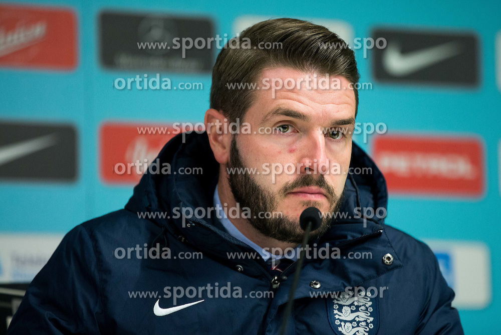 Andy Walker, press officer of England at press conference after the football match between National teams of Slovenia and England in Round #3 of FIFA World Cup Russia 2018 Qualifier Group F, on October 11, 2016 in SRC Stozice, Ljubljana, Slovenia. Photo by Vid Ponikvar / Sportida