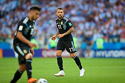 MOSCOW, RUSSIA - Saturday, June 16, 2018: Argentina's Nicolas Otamendi during the FIFA World Cup Russia 2018 Group D match between Argentina and Iceland at the Spartak Stadium. (Pic by David Rawcliffe/Propaganda)