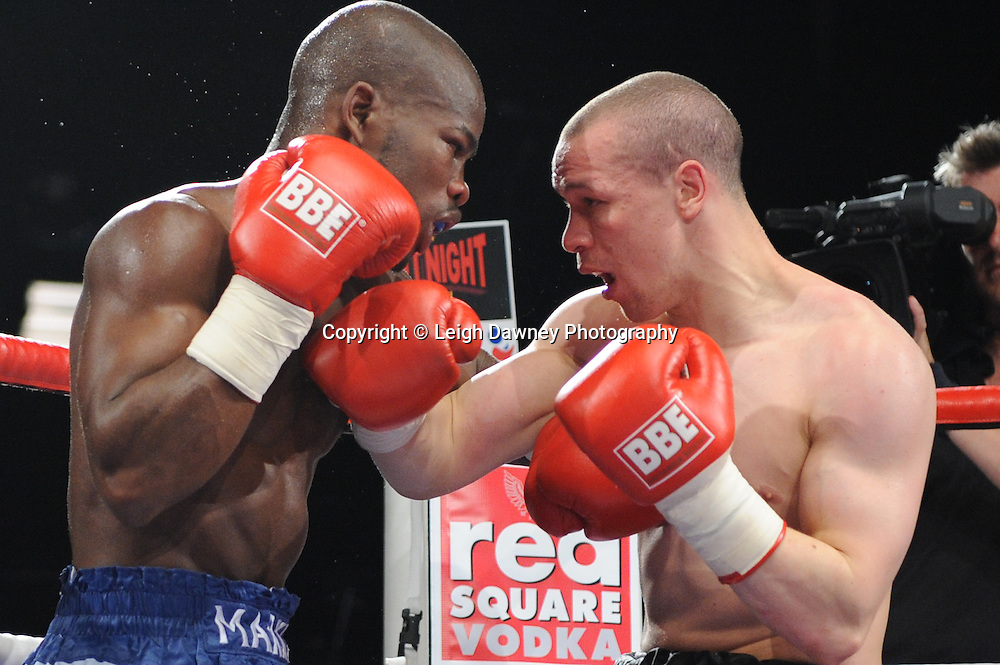Carl Johanneson defeats Mark McKray in a Lightweight contest at the Doncaster Dome, Doncaster, Uk, 3rd September 2011. Frank Maloney Promotions. Photo credit: Leigh Dawney 2011
