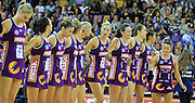 QUEENSLAND FIREBIRDS - PHOTO: SMP IMAGES / QLD FIREBIRDS MEDIA - QIUEENSLAND FIREBIRDS v NSW SWIFTS - 21st June 2015 - Action from the 2015 ANZ Netball Championships between the QUeensland Firebirds v NSW Swifts played at the Brisbane Entertainment Centre, Boondal.