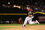 PHOENIX, AZ - MAY 14:  Daniel Hudson #41 of the Arizona Diamondbacks delivers a pitch during the ninth inning against the San Francisco Giants at Chase Field on May 14, 2016 in Phoenix, Arizona.  (Photo by Jennifer Stewart/Getty Images)