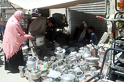 April 29, 2019 - Pakistan - QUETTA, PAKISTAN, APR 28: A man sells utensils to earn his livelihood for support his .family at his shop located on Qandhari Bazar in Quetta on Sunday, April 28, 2019. (Credit Image: © PPI via ZUMA Wire)