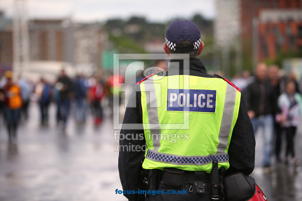 Heavy police presence before the Sky Bet League 1 play-off final at Wembley Stadium, London<br /> Picture by Glenn Sparkes/Focus Images Ltd 07939664067<br /> 20/05/2017