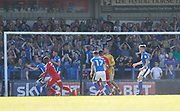 Rochdale fans watch as the ball flies narrowly wide during the EFL Sky Bet League 1 match between Rochdale and Charlton Athletic at Spotland, Rochdale, England on 5 May 2018. Picture by Paul Thompson.