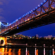 Brisbane's Story Bridge at night
