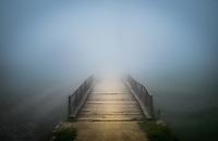 SAPA, VIETNAM - CIRCA SEPTEMBER 2014:  Bridge covered by mist at the Ta Phin Village in North Vietnam