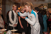 NATALIA VODIANOVA, Afternoon tea to  celebrate the addition of the Naked Heart Dessert to Russian restaurant Mari Vanna's menu,  Mari Vanna, 116 Knightsbridge, London, SW1X 7PJ. August 29 2012.